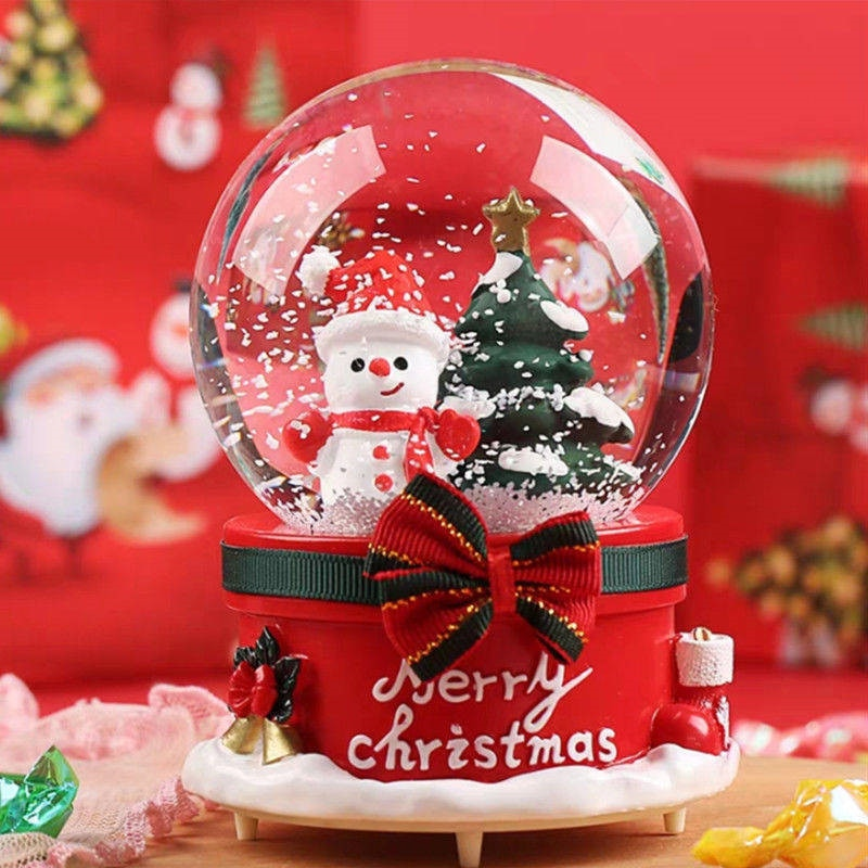 2019 hot sale led light 3d music crystal ball glass snowflake globe creative home decor birthday valentine s day gift for girl Santa Claus Crystal Ball Christmas Snow Globe Music Box Light Snowflakesfor Thanksgiving Birthday New Year Gift Led Light Lamp