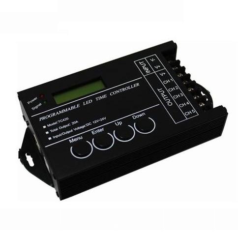 10 unids/lote 20A 5 canales 240 salida ordenador programable Led controlador de tiempo TC420 ensamblar controlador RGB Touch DC hierro