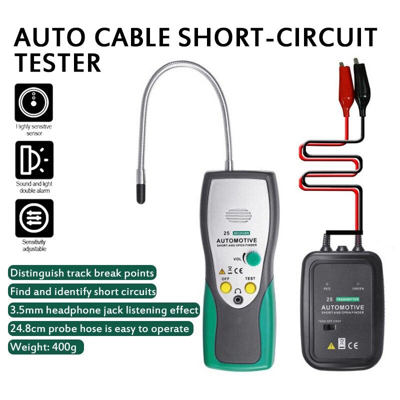 1 pçs cabo rastreador curto dy25 circuito testador automotivo localizador de curto circuito aberto do carro scanner circuito dc testador em415