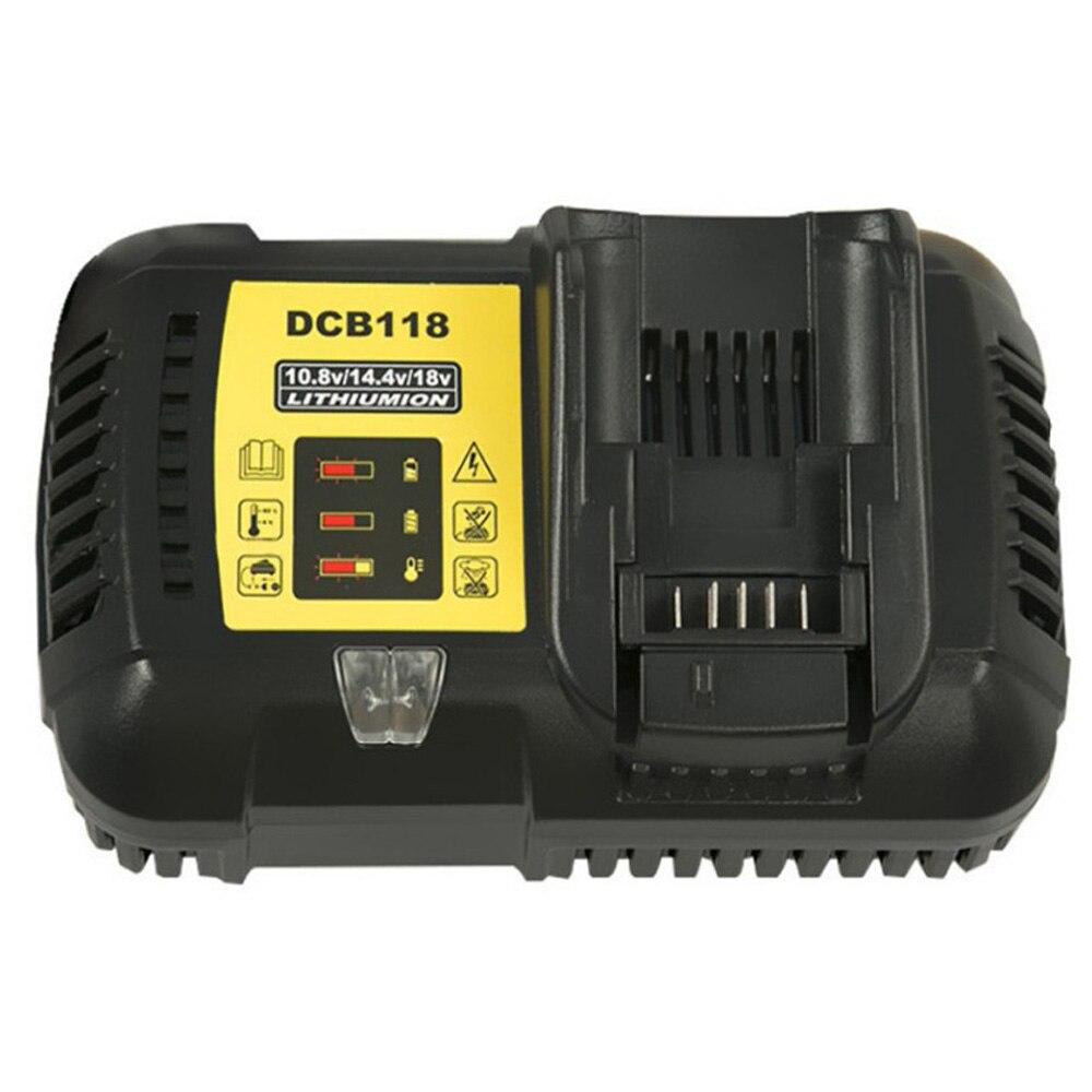 Cargador rápido de baterías de ion de litio DCB118, carga de 4,5 a para DeWalt 10,8 V 12V 14,4 V 18V Max. 60V DCB101 DCB200 DCB140 DCB105 DCB200