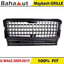 Chrom Vertikale Bars Kühlergrill Facelift für Mercedes G Klasse W463 Zu Maybach GT Racing Grill G500 G55 2009-2017 schwarz Weiß