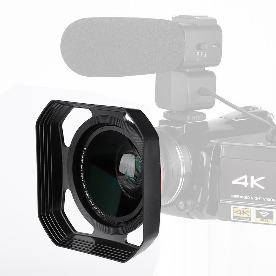 Cubierta de lente 37mm/72mm DV Cámara lente hood, tapón de luz innecesaria len accesorios Cámara lente Hood,