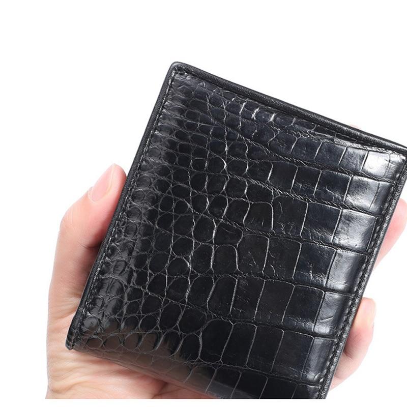 New Crocodile Belly Coin Purse Men's Short Leather Wallet Suit Horizontal Men's Multi-Card Wallet