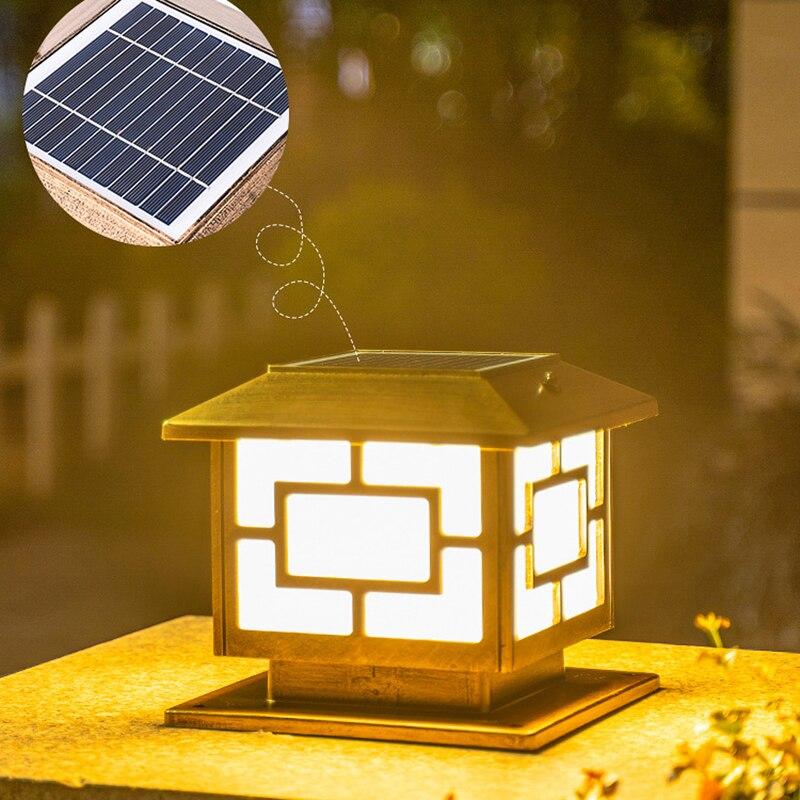 Solar outdoor post lights Home villa garden lights waterproof Garden fence led villa doorpost lamp Solar landscape light enlarge