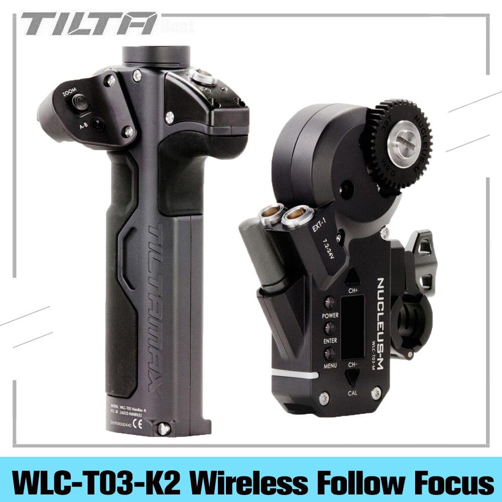 TILTA WLC-T03 Kit II نواة-M لاسلكية اتبع عدسات تركيز نظام التحكم ل 3 محاور Gimbal ل أري الأحمر Tilta ماكس DJI RONIN S