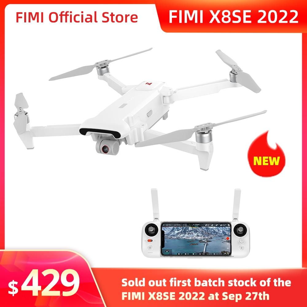 كاميرا FIMI X8SE 2022 كاميرا احترافية رباعية 4K كاميرا RC هليكوبتر 10 كجم FPV 3 محاور كاميرا Gimbal 4K نظام تحديد المواقع RC الطائرة بدون طيار جديد
