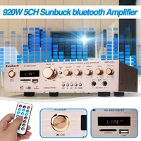 220v 580BT Bluetooth HiFi amplificateurs maison ampli stereo AV Surround amplificateur numerique FM karaoke cinema 5CH Home cinema amplificateurs