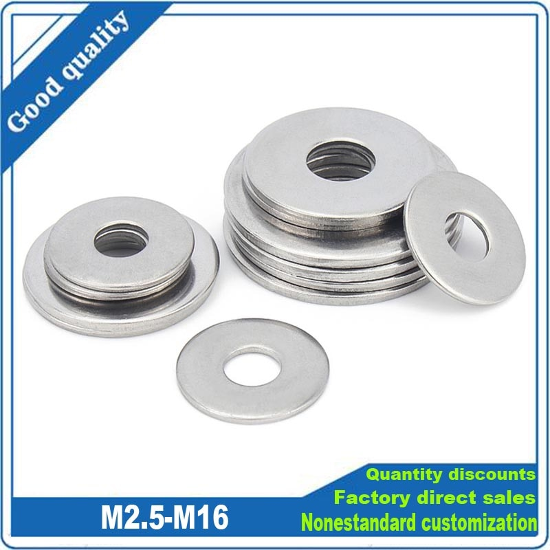 AliExpress - 2/50pc A2-70 304 Stainless Steel Large Size Oversize Big Wider Flat Washer M2.5 M3 M3.5 M4 M5 M6 M8 M10 M12 M14 M16 Plain Gasket