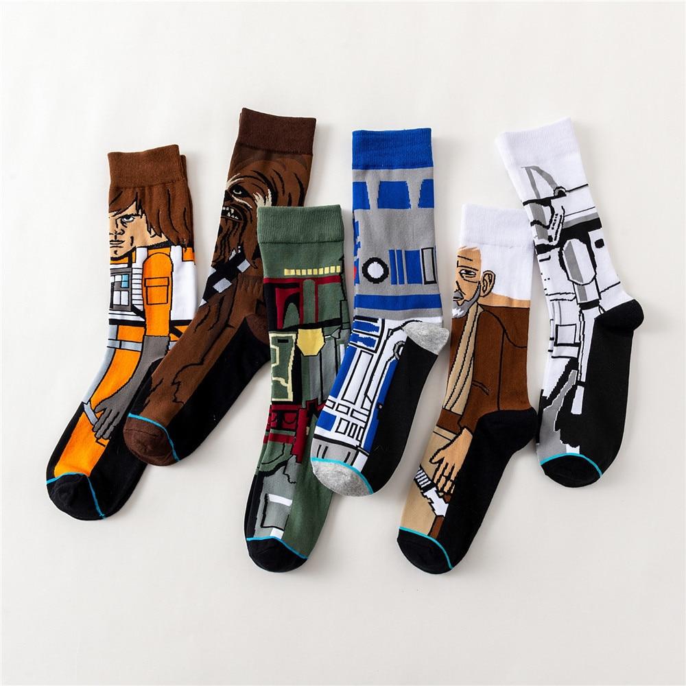 Película Star Wars medias maestro Yoda R2-D2 calcetines Cosplay Wookiee Caballero jedis novedad hombres mujeres calcetines primavera Otoño Invierno