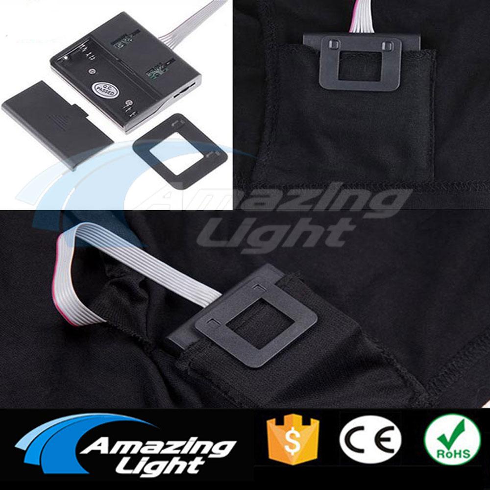 Camiseta de fiesta de música, Luz LED brillante, panel el