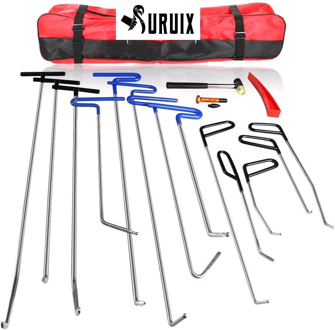 16pcs Auto Body Dent Repair Hail Damage Removal Tools Paintless Dent Repair Rods Tool Paintless Dent Repair Kits