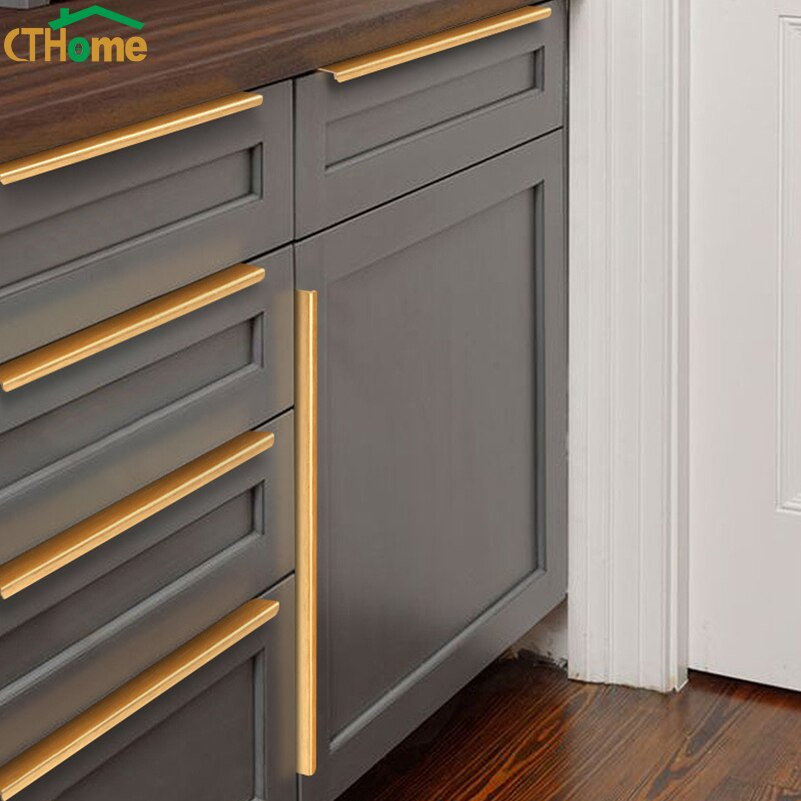 Manija de armario negra dorada Extra larga oculta, tiradores pomos de cajones, tiradores de armario de cocina, perilla de Puerta del dormitorio, tirador de armario, muebles
