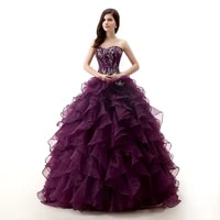 2021 ball gown sweetheart beaded embroidery floor length long prom gown for girl purple quinceanera dresses