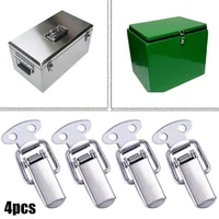 4pc stainless steel spring loaded clamp clip case box latch catch toggle spring loaded bracket car frame number plate clip