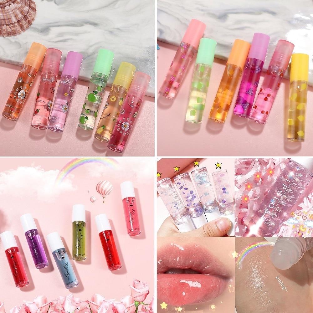 Aceite labial hidratante, bálsamo labial de larga duración, maquillaje de belleza de Color aleatorio, 24 unids/lote