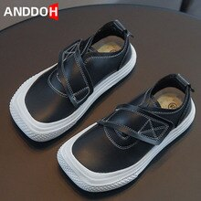 Size 26-36 Children Waterproof Leather Casual Shoes Boys Girls Anti-slip Wear-resistant Shoes Kids L