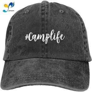 Men's BeerLife Hat,Printed Vintage Baseball Cap Washed Distressed Adjustable Denim Dad Hat