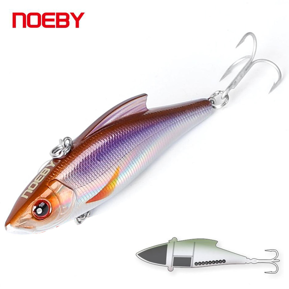NOEBY 9cm 32g Vibration Hard Fishing Lures Sinking VIB Artificial Baits Ratlin for Goods NBL9141