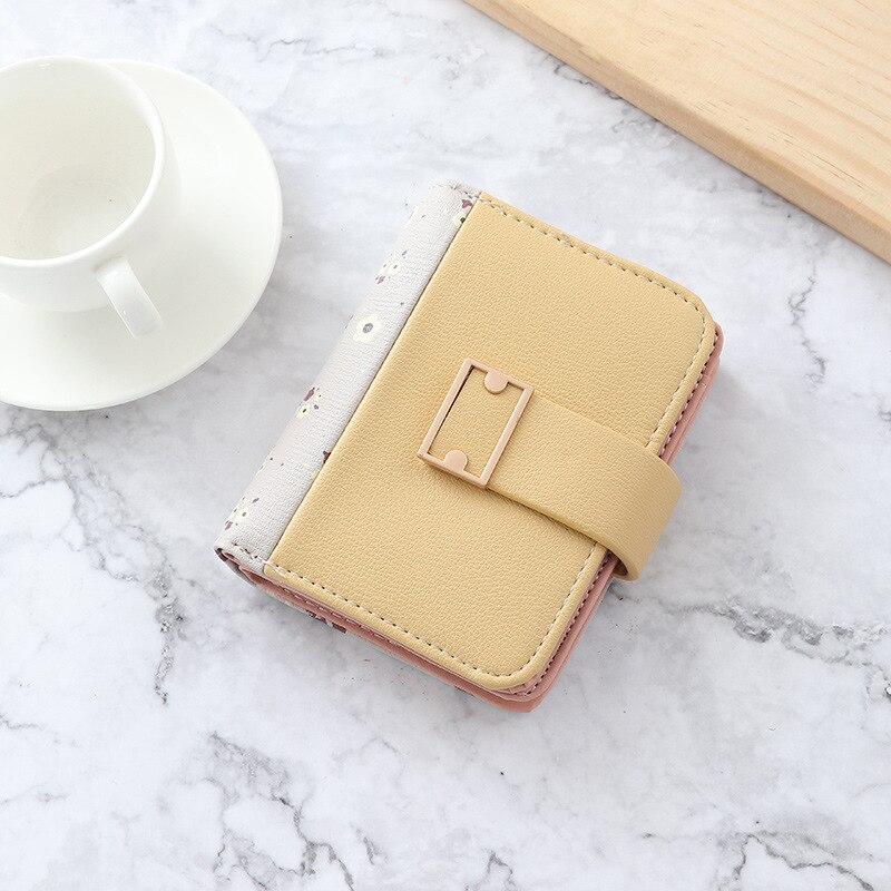 6 colors Korean Trend money bag leather cute woman wallet small short ladies purse multi cardholders wallets for women ladies