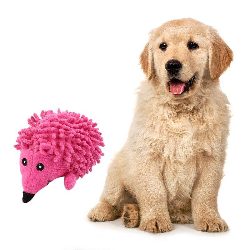 Perro mascota divertido masticar juguetes chirrido erizo juguetes de peluche para pequeño perro grande lindo animales forma interactivo Molar Juguetes