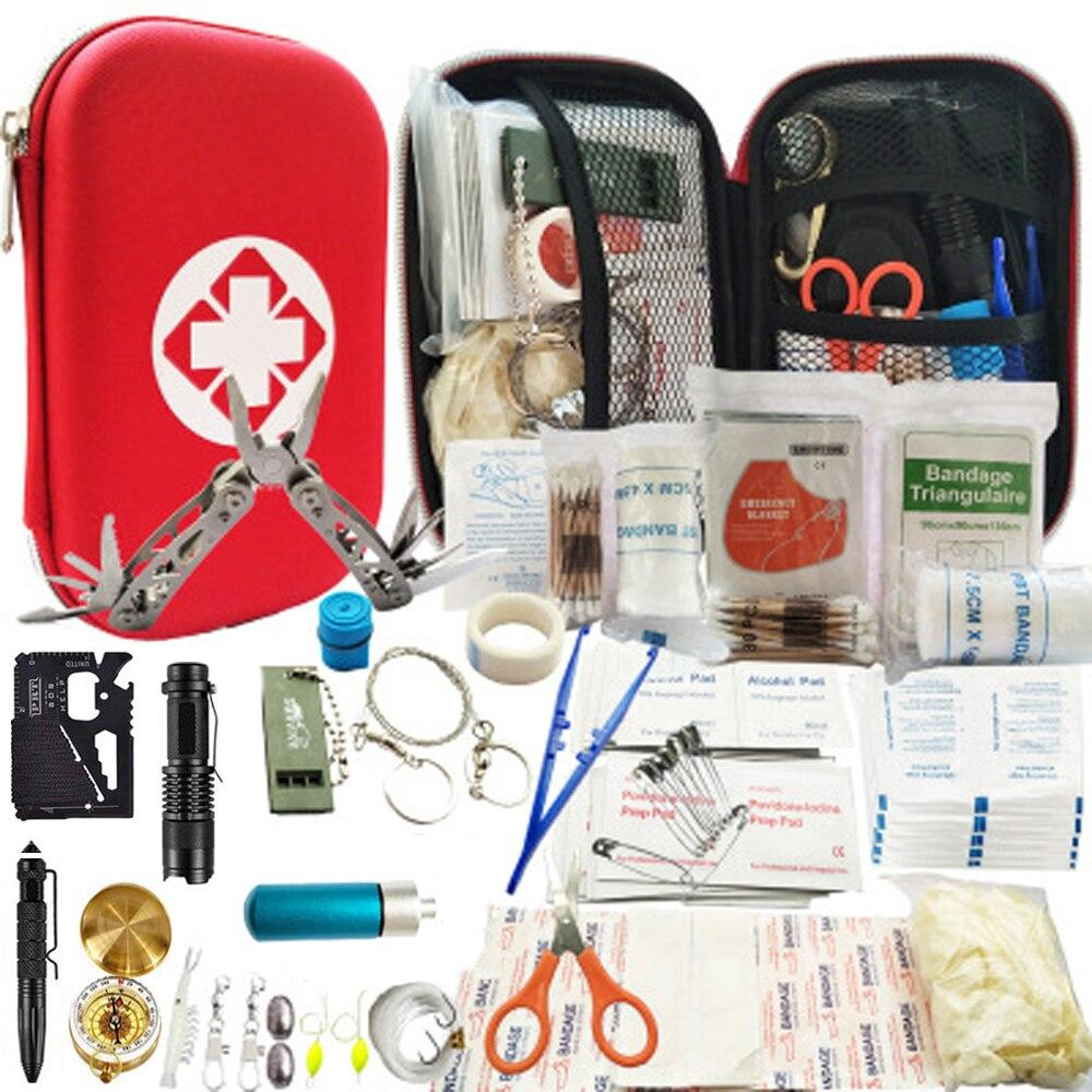 80 в 1 набор для выживания на открытом воздухе, многофункциональный набор для кемпинга, путешествий, первой помощи, SOS, EDC, аварийные принадлежности, тактический инструмент для охоты