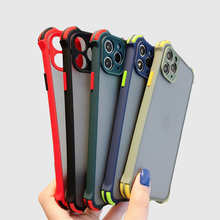 Luxury Shockproof Case For Iphone 11 Pro Xs Max X Xr Transparent Matte Hard Cover Case For Iphone Se 2020 7 8 6s 6 Plus Fundas