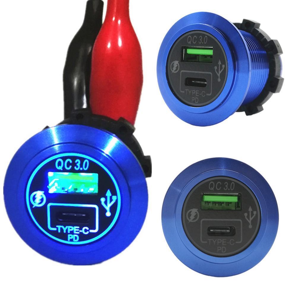 Автомобильное зарядное устройство для телефона, модифицированное автомобильное зарядное устройство PD Type-c, автомобильное зарядное устройс...