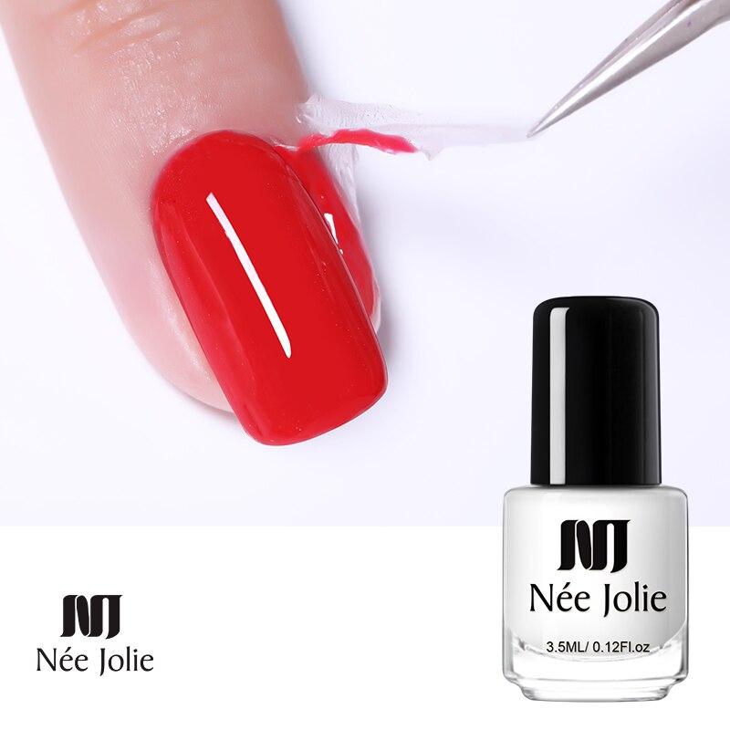 NEE JOLIE uñas de látex protector líquido peel off de protección dedo barniz proteger las uñas polaco Anti desbordamiento de pegamento