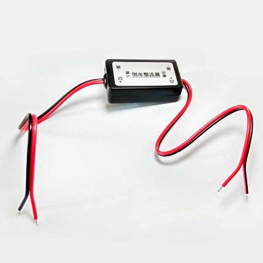 12V DC de potencia de la cámara del coche de quitar las ondas Anti-interferencia conector rectificador Invertir imagen estacionamiento automático vista trasera