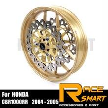 Jante de roue de moto pour Honda CBR1000RR 2004-2005 disques de Rotor + frein avant CBR 1000RR 2004 2005