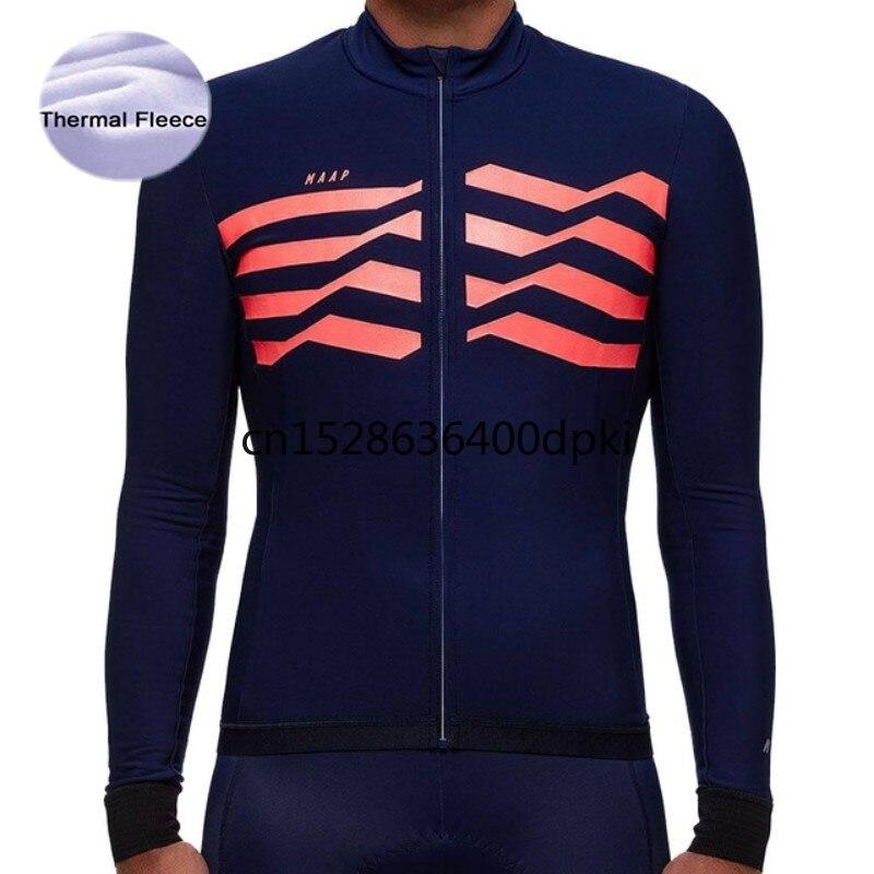 Jersey térmico de lana para Ciclismo para hombre, ropa de carreras, camisetas...