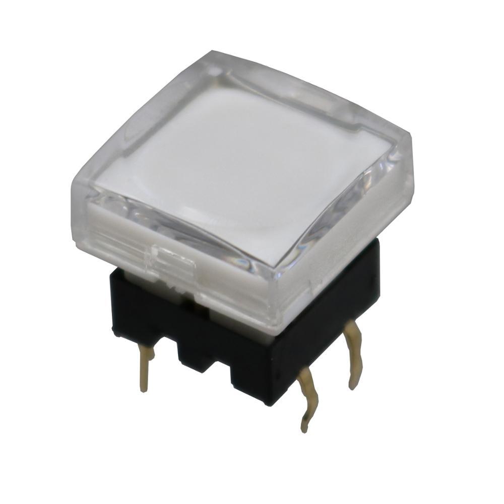 1 Uds TS26-2 cubierta transparente cuadrada de 15mm con interruptor de botón momentáneo de luz Led