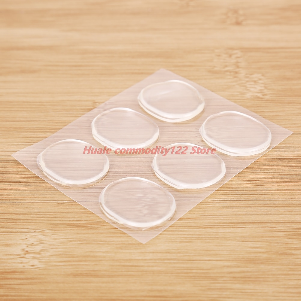 New One Set Silicone Gel Heel Liner Grips Soft Cushion Pad Insole For High Heeled Shoe Clear Back 2Styles