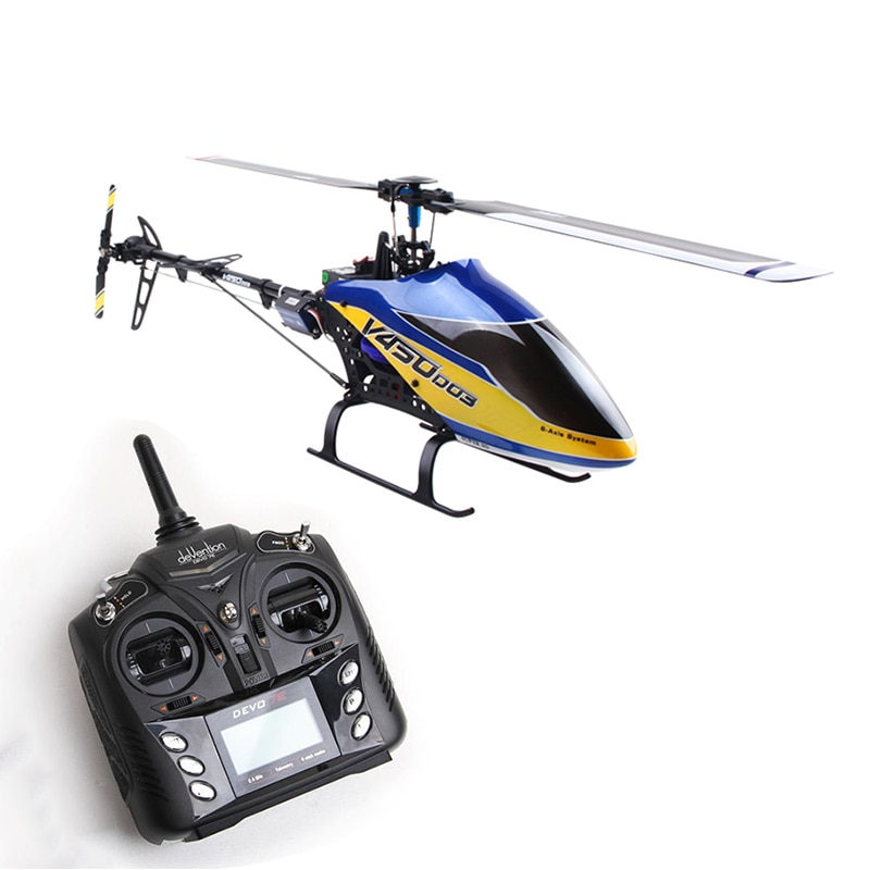 US Stock Walkera RC V450D03 RC Helicopter Model Plane ESC DEVO 7 Radio Without Battery