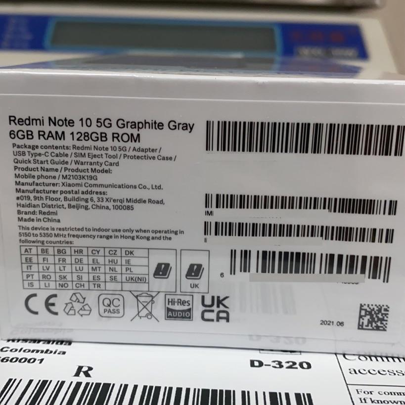 Global Version Xiaomi Redmi Note 10 5G Smartphone RAM 6GB ROM128GB MTK 700 CPU 48MP Camera 6.5