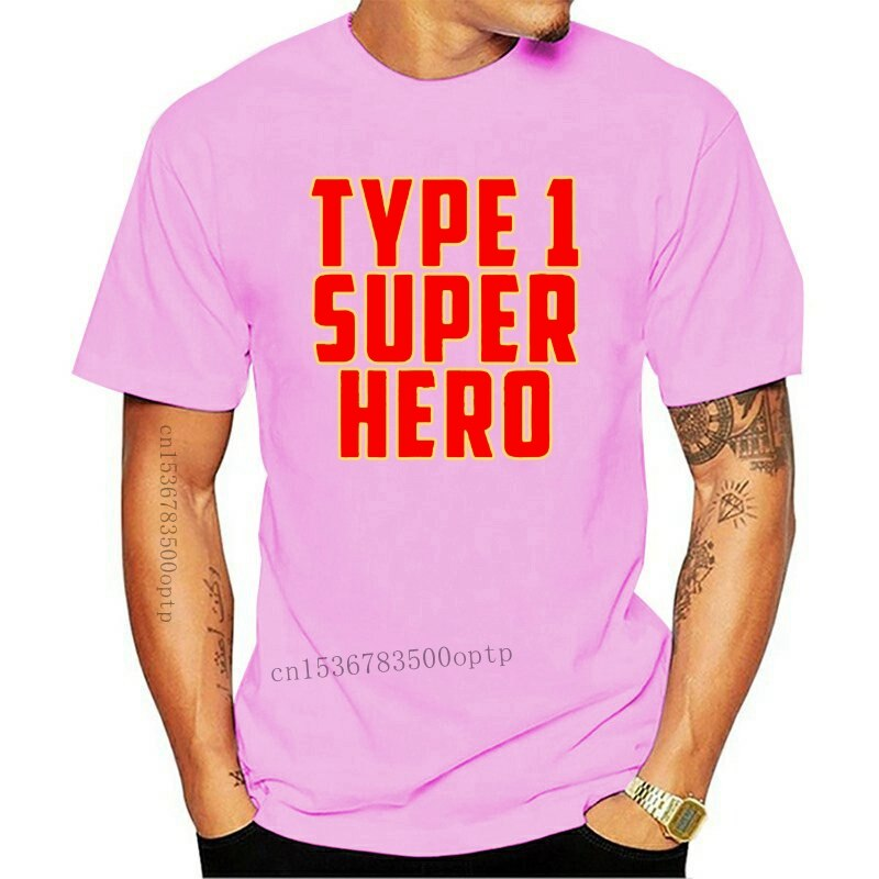 New Clothing Type 1 Super Hero Diabetes T Shirt for Kids and Adults(2)