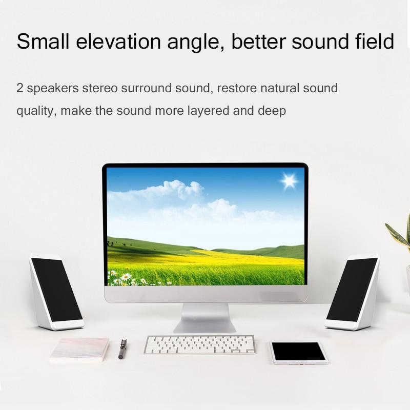 USB Wired Computer Speakers 2 Pieces PC Elevation Angle Horns for Laptop Desktop Phone Audio Speaker Multimedia Loudspeaker enlarge