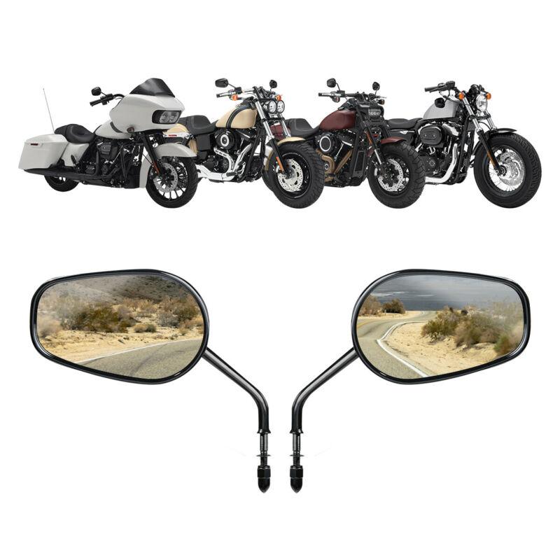 Мотоциклетное боковое зеркало заднего вида для Harley Road King Touring XL1200L XL883 XL883L Sportster Dyna Softail 8 мм аксессуары