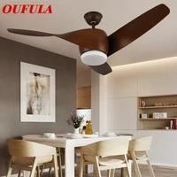 oufula modern ceiling fan lights 110v 220v contemporary remote control for home dining room bedroom restaurant