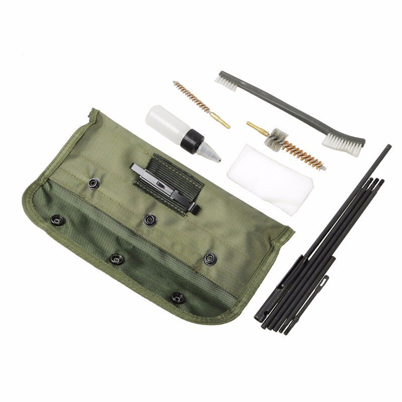 1 conjunto ar15 m16 m4 arma kit de limpeza airsoft shotgun pistola cleanner para 5.56mm .223 22lr. 22 cal tático rifle arma escovas conjunto