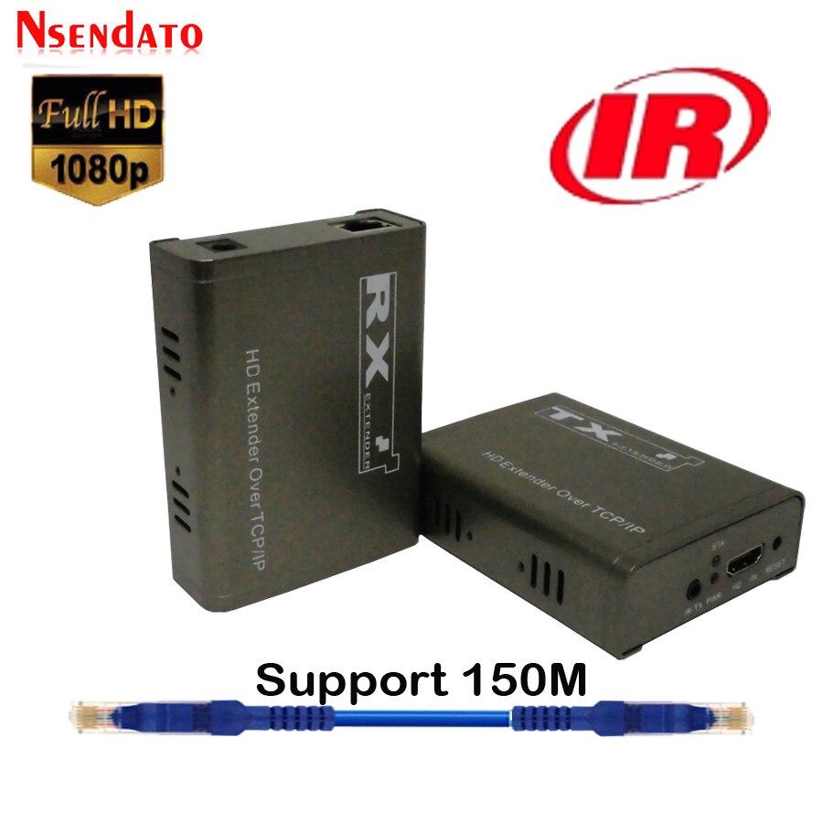 150m Extensor de HD sobre TCP IP 1080P HD IR Extensor Cat5e/Cat6...