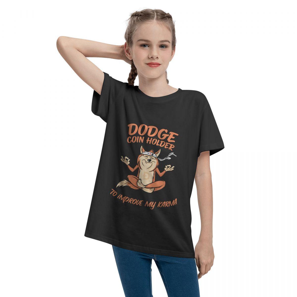 Crypto Dogecoin Karma Funny Teenage T-shirt Unisex Comfortable Fashion Summer Tops 100% Cotton