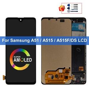 Супер AMOLED для Samsung Galaxy A51 LCD A515F SM-A515F/DS A515F/DS A515F дисплей сенсорный экран дигитайзер для Samsung A515 дисплей