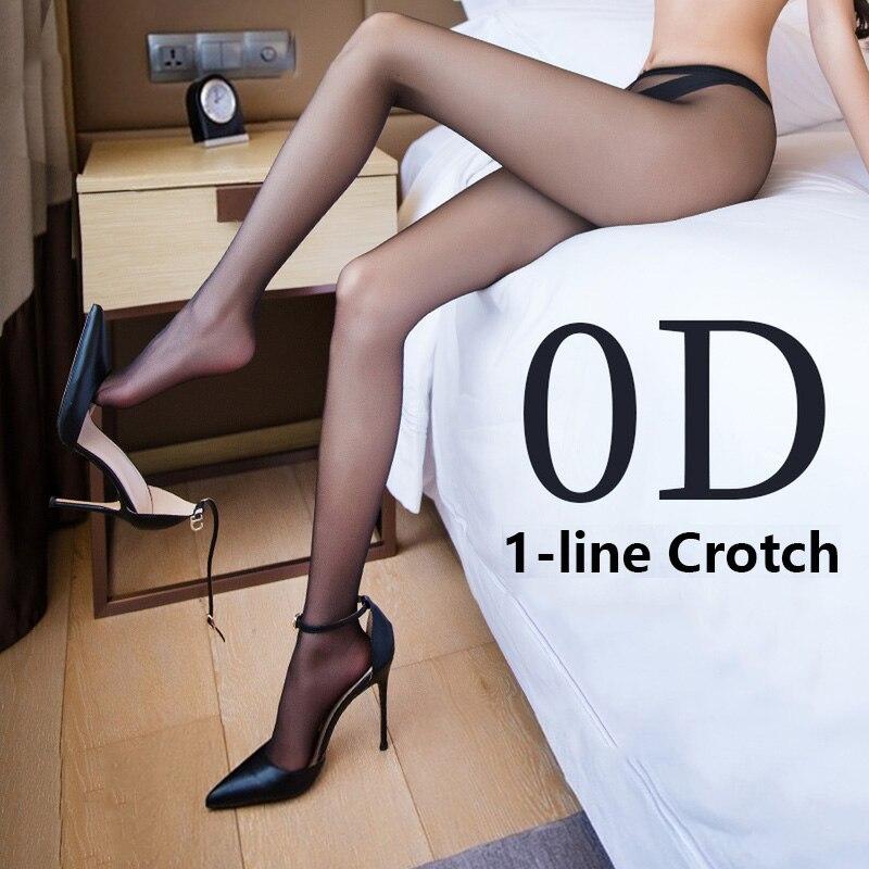Medias sexis ultradelgadas para mujer atractivas para mujer, medias transparentes para mujer, medias invisibles de 1 línea, calcetas transparentes para la entrepierna
