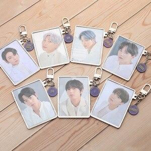 Korean Kpop Bangtan Boys BANG BANG CON Photo Frames Keychains Creative Keyrings Bag Pendant BBC The Live Key Tings Accessories