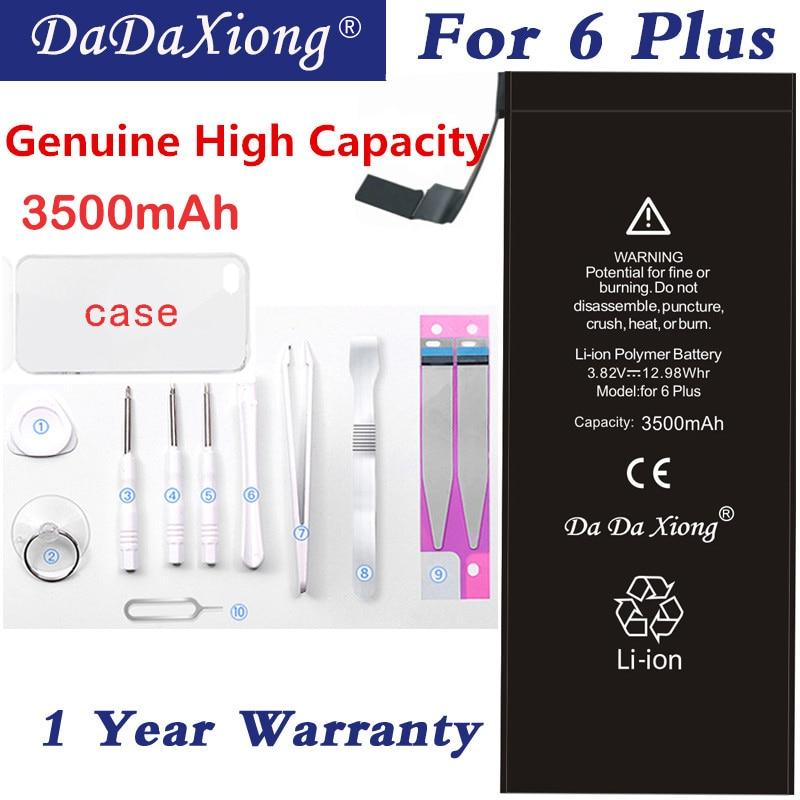 Original Da Da Xiong Battery For Apple iPhone 6 Plus 3500mAh Max Capacity Phone Replacement Lithium Polymer Batteries Free Tools