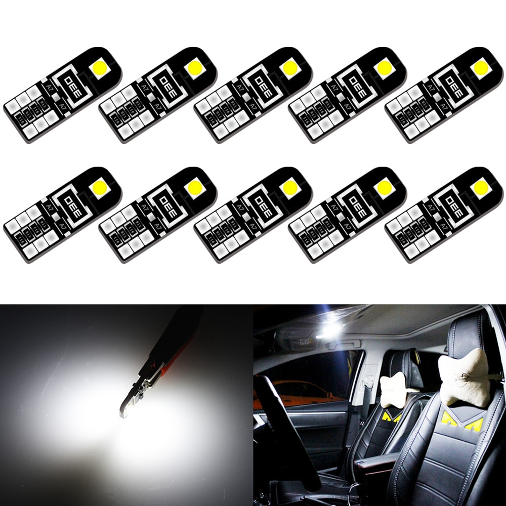 10pcs Canbus W5W T10 LED Bulb for Volvo XC60 XC90 S60 V70 S80 S40 V40 V50 XC70 V60 Car Interior Light Dome Trunk Parking Lights