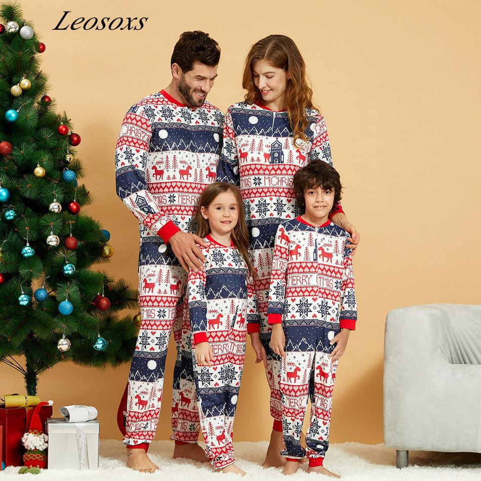 Christmas Matching Family Outfits2021Father Son Baby Mother Daughter Clothes family matching outfits Pajamas
