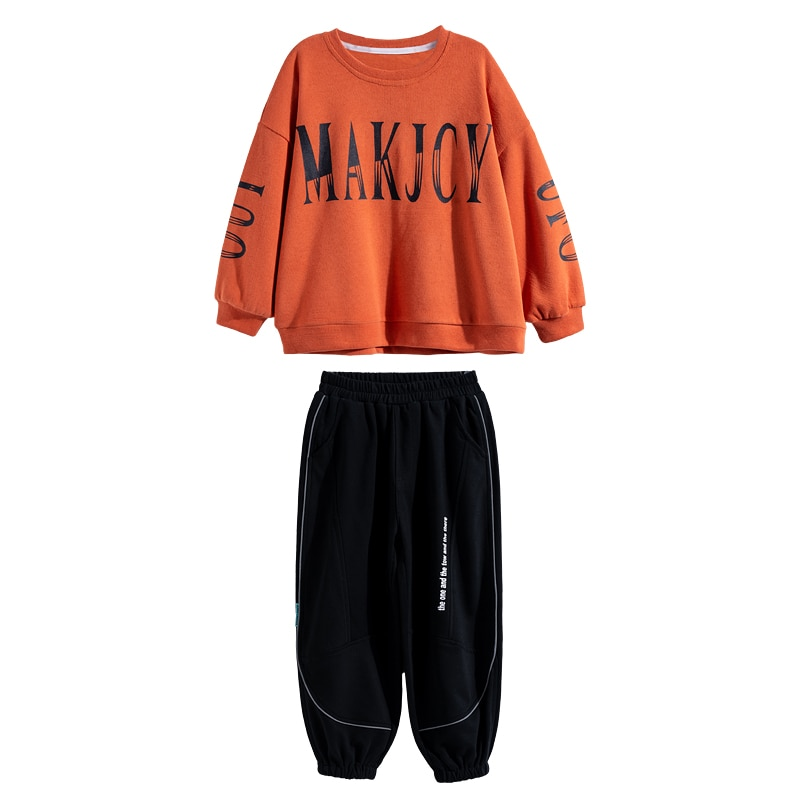2pcs Teenager Set Children's Clothes Sets Boys Fashion Sports Suits Spring Sweatshirt Hoodie Outdoor Causal Tracksuit 4-14T