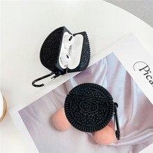 Teyomi 3D drôle Cookies étui pour Airpods Pro étui casque étuis avec crochet pour Apple Airpods 1/2 étui pour enfants